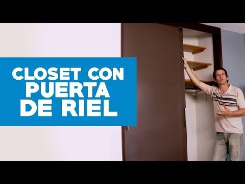 ¿Cómo hacer una puerta de riel para el clóset