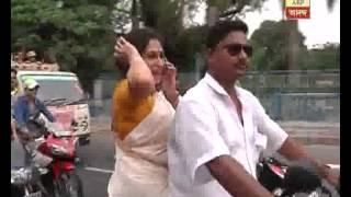 Road show of Rupa Ganguly and Babul Supriya