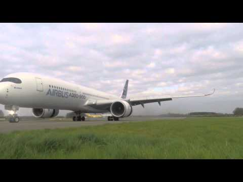 Airbus A350-941 unbelievable short landing, runway edge GoPro footage, Cotswold Airport (Kemble)
