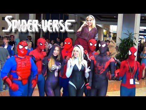Xxx Mp4 SpiderMan SPIDERVERSE Comic Con Invasion Ft SpiderGwen MELF 3gp Sex
