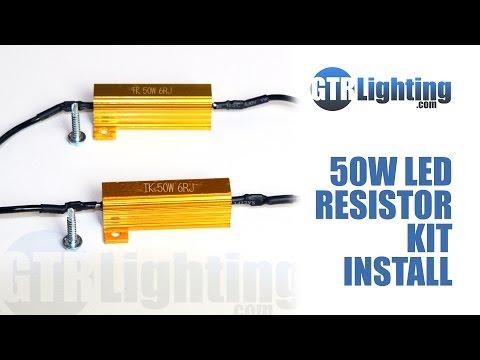 GTR Lighting LED Resistor Kit Install Tutorial   GTR Lighting