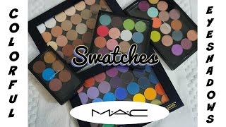 SWATCH FEST 💕 MAC Colorful Eyeshadows (ALL SHADES) 💕 Purples, Blues, Greens, Pinks, Oranges, Yellows