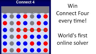 Win At Connect Four Every Time! The World's First Online Connect 4 Solver