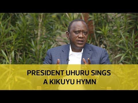President Uhuru sings a Kikuyu hymn