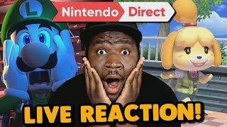 Animal Crossing!? Luigi's Mansion3!? AHHHH!!! | Nintendo Direct LIVE REACTION