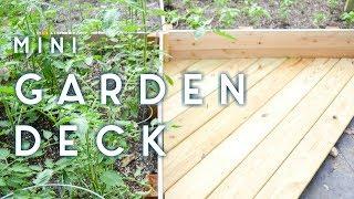 DIY Mini Garden Deck   scrap wood speed build