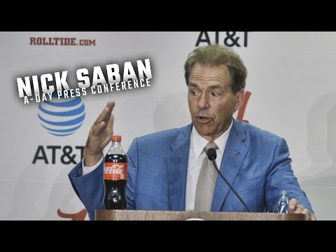 Hear what Nick Saban had to say following Alabama s 2017 A Day spring game