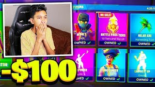 Weird Fan bought ENTIRE ITEM SHOP on My Account after Hacking me in Fortnite!