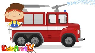 Doctor McWheelie and the fire truck. Car cartoons.