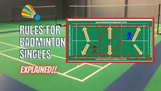 Rules for Badminton singles - By BadmintonPlanet.com