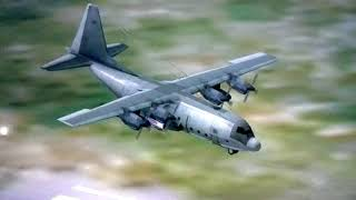 Silvão Batéra V - (LANTERNA VERDE) C-130 #9800 fazendo pouso na base e Taxiano para o angar!