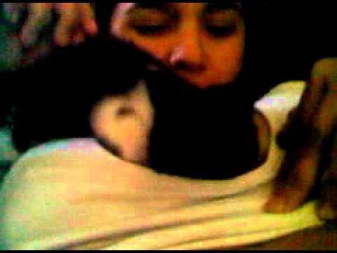 cat tries to breastfeed girl