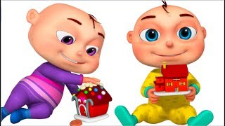 Five Little Babies Playing With Dough ( Building House ) | Videogyan 3D Rhymes | Learn Colors
