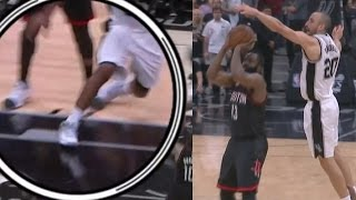 Manu Ginobili Blocks James Harden! Kawhi Leonard Injury, Rockets Spurs Game 5