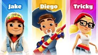 Subway Surfers Barcelona  2019 - Diego vs Jake Star Gameplay| Cartoons Mee