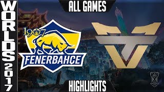1907 Fenerbahce vs Team oNe Esports Highlights ALL GAMES Worlds 20176 Play in final 4 of 4 FB vs ONE
