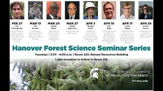 04.17.18 Hanover Forest Science Seminar Series: David Hodge