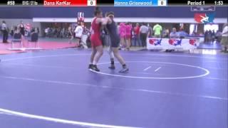 WM 55 KG Dana KarKar (Waldorf) vs Hanna Grisewood (King)