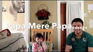 Cute Little Girl Singing Song with Daddy (Papa Mere Papa)