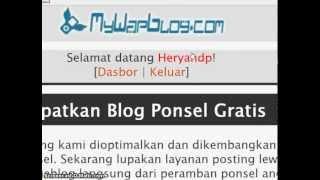 Pasang Link Di Mywapblog.com By ADMIN HMC
