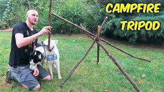Bushcraft Campfire Tripod