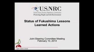 NRC Status of Fukushima Lessons Learned Actions - Feb.10, 2014
