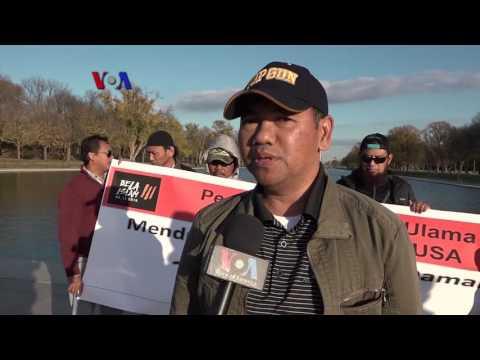 Pro Kontra Aksi 212 Diapsora Indonesia di Washington, DC - Liputan Berita VOA