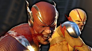 Flash Vs. Reverse Flash Fight Scene - Injustice 2 (Justice League 2017)
