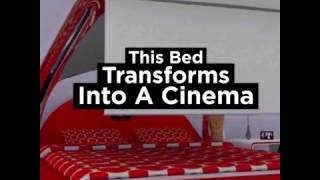 Awesome Bed Transforms Into A Cinema