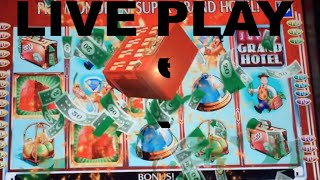 LIVE PLAY on Monopoly Super Grand Hotel Slot Machine with Bonuses