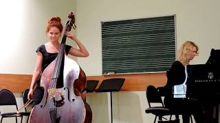 S. Koussevitzky. Concerto fis-moll for doublebass and orchestra, part 1. Playing Elena Rigun