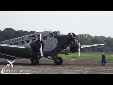 HB-HOT Ju-Air Junkers Ju-52/3m Airport Mönchengladbach-MGL [FULL HD]