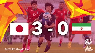 JAPAN vs IRAN: AFC U23 Championship 2016 (Quarter Final)