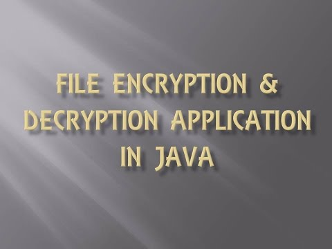 FREE File Encryption and Decryption Software in JAVA