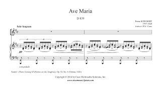 Schubert : Ave Maria (Latin) - Mezzo-Soprano or Baritone