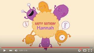 Happy Birthday Hannah, full HD 1080p