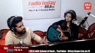 Dristy Anam Live on FM 89.6 with School of Rock