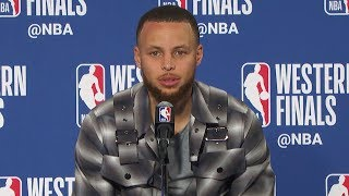 Stephen Curry Postgame Interview - Game 3 | Rockets vs Warriors | 2018 NBA West Finals