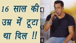 Salman Khan BROKE his heart when he was 16; Here's How | FilmiBeat