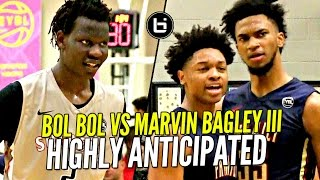 Marvin Bagley III vs Bol Bol BATTLE at Nike EYBL!!! Future NBA Pros MUCH Anticipated Match-Up!!