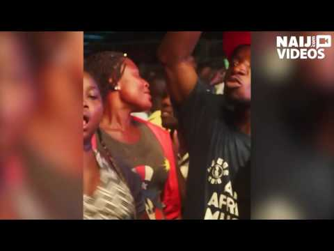 See how this girl was spotted dancing Fuji with her boobs at AFRIMA music village