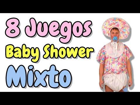 8 Juegos para Baby Shower Mixto HD