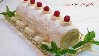 Muzlu Rulo Pasta Tarifi - Evde yaş pasta yapılışı  [HD]
