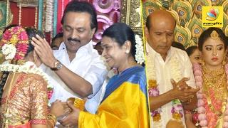 Actor and MLA Vaagai Chandrasekar daughter wedding celebration   Stalin   sivakumar   prabhu