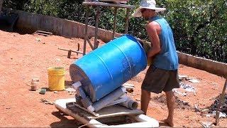 DIY Manual Concrete Mixer