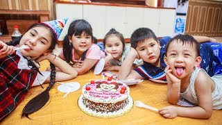 Kids Go To School | Day Birthday Of Chuns Children Make a Birthday Cake With Best Friends