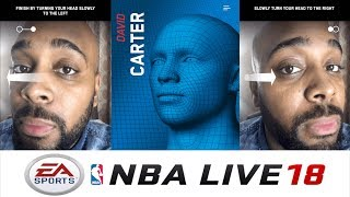 NBA LIVE 18 FACE SCAN TUTORIAL! How To Get Mobile App + Tips and Tricks