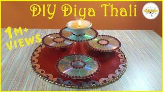 DIY Diya Thali | Decorative Thali | msjustcraft | 5 minute craft