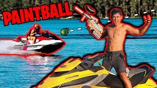 PAINTBALL JET SKI OBSTACLE COURSE!