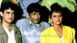 Dev Anand directs much younger Aamir Khan and cast of film Awwal number